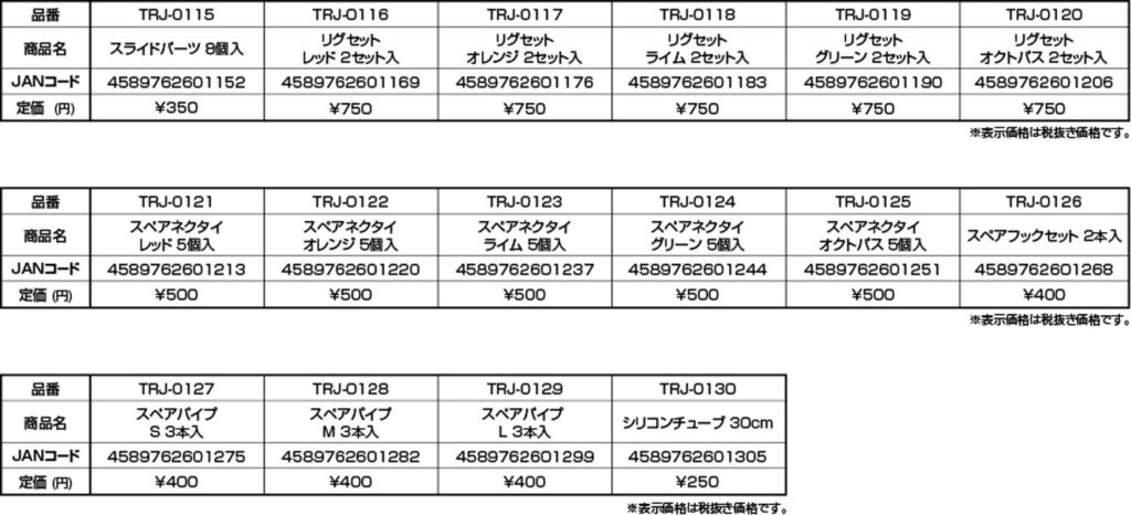 タイラバJET-スペアパーツ(交換パーツ)